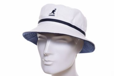 Kangol Stripe Lahinch Bucket hat weiss