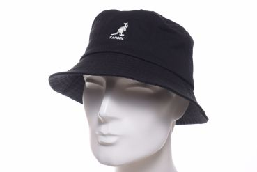Kangol washed Bucket schwarz