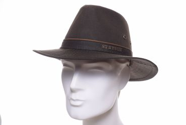 Stetson Traveller braun waxed cotton