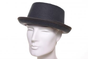 Stetson Pork Pie Canvas anthrazit grau