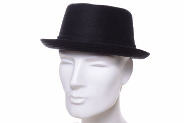 Stetson Pork Pie Wool schwarz
