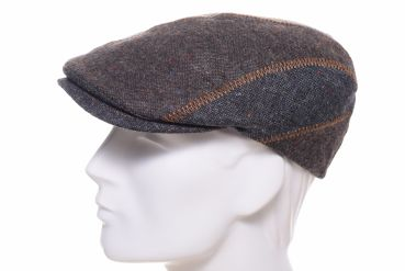 Balke Flatcap fabric mix Patch braun