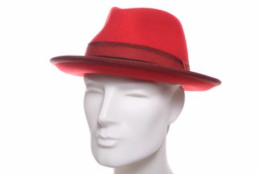 Bedacht Trilby Wolle rot