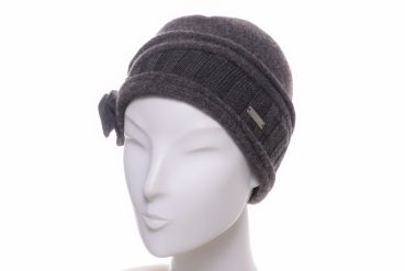 Seeberger Walkbeanie Blumengarnitur chocolate