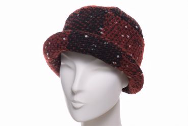 Balke Klettkappe heavy fashion tweed rot