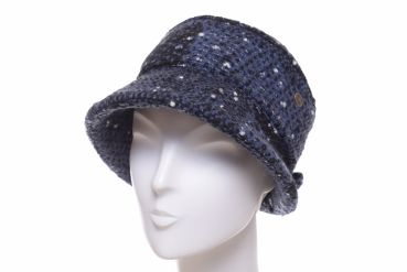 Balke Klettkappe heavy fashion tweed blau