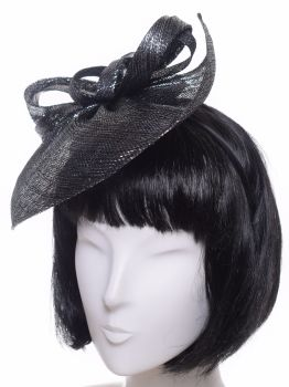 Seeberger Glitzer Fascinator black/grey