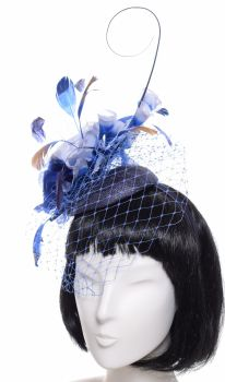 McBurn Fascinator by Emma B blau