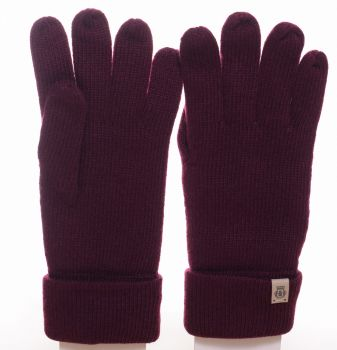 Roeckl Strickhandschuh Essentials Basic wine red