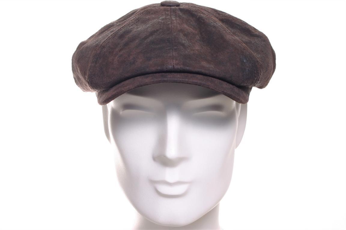 Stetson Lanesboro Leder Schildm/ütze Damen//Herren Antikleder Ledercap Hatteras mit Schirm Fr/ühling-Sommer Herbst-Winter